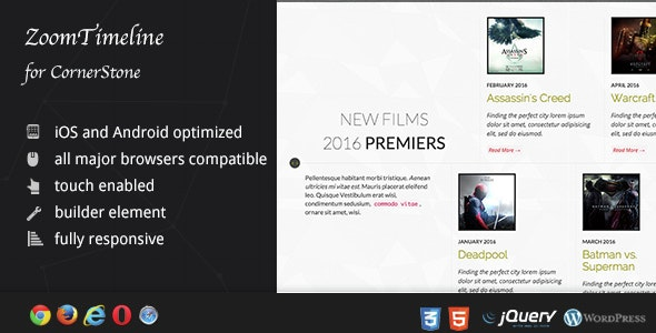 ZoomTimeline - WordPress History Plugin / Ultimate Timeline Pack - CodeCanyon Item for Sale