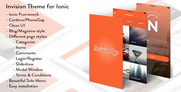 Invision Theme for Ionic - CodeCanyon Item for Sale