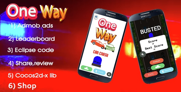 One way - multiple char+leaderboard+admob - CodeCanyon Item for Sale