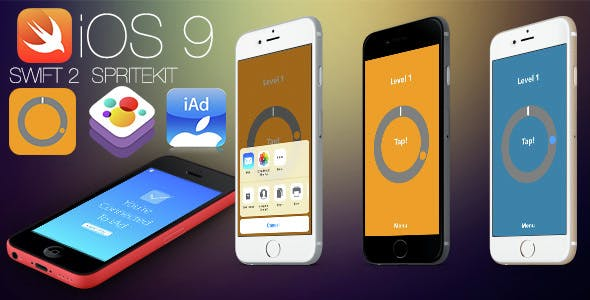 LockPop - Swift 2 - SpriteKit Game for iOS9, iOS8 with iAd and share. Fully Customizable