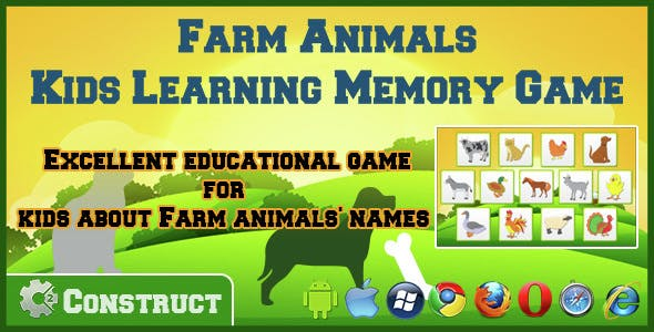 Farm Animals - Kids Learning Memory Game by DigiSmileLtd