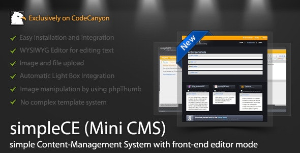 simpleCE (Mini CMS) - CodeCanyon Item for Sale
