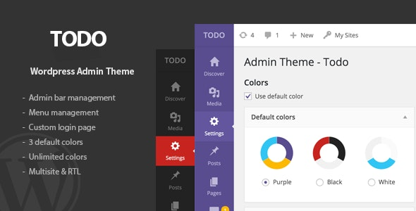 Todo - WordPress Admin Theme & Login Page - CodeCanyon Item for Sale