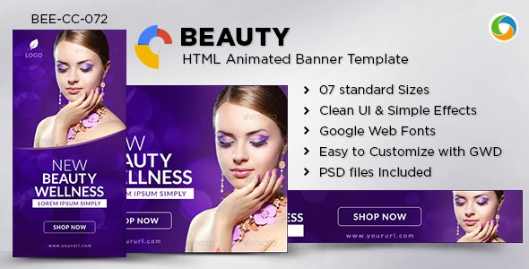 HTML5 Health & Beauty Banners - GWD - 7 Sizes - CodeCanyon Item for Sale
