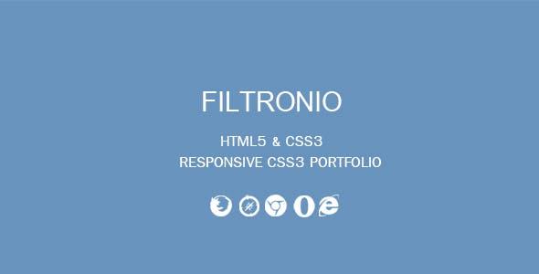 Filtronio - CSS3 Portfolio