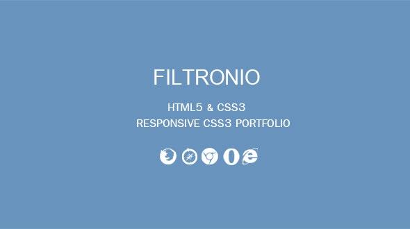Filtronio - CSS3 Portfolio - CodeCanyon Item for Sale