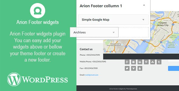 Arion Footer Widgets