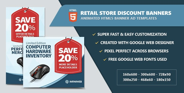 Retail Store Discount Banners - HTML5 - CodeCanyon Item for Sale