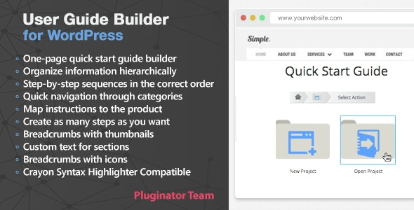User Guide Builder WordPress Plugin - CodeCanyon Item for Sale