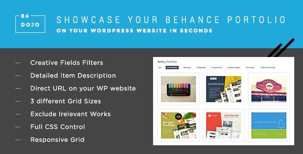 BeDojo - Behance Works WordPress Portfolio Plugin - CodeCanyon Item for Sale