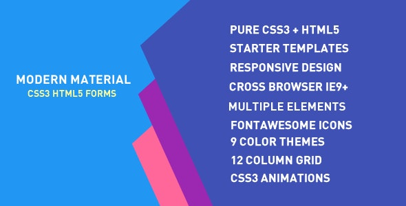 Modern Material Forms - CodeCanyon Item for Sale