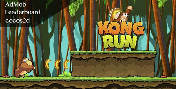 Kong Run - Admob + Leaderboard