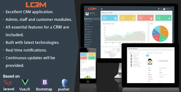 LCRM - Next generation CRM web application - CodeCanyon Item for Sale