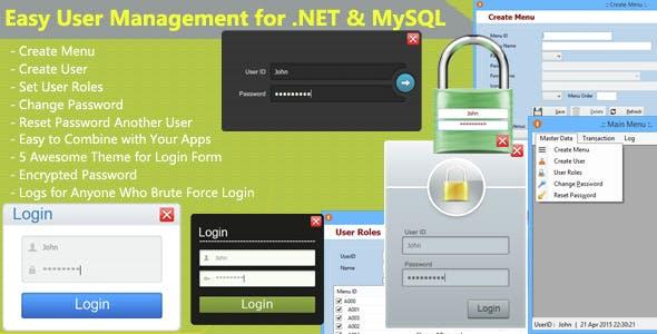 Easy User Management for .NET & MySQL