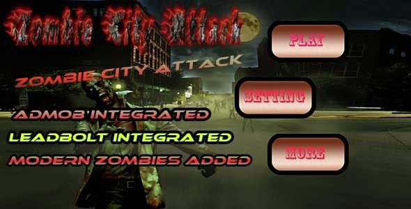 Zombie City Attack 3D Game