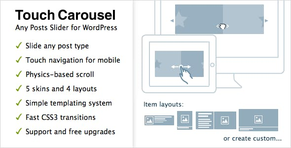 TouchCarousel - Posts Content Slider for WordPress        Nulled