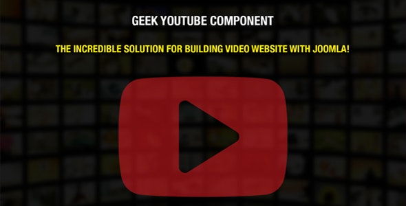 Geek YouTube Component - CodeCanyon Item for Sale