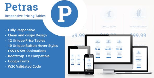 Petras-Responsive Price Tables