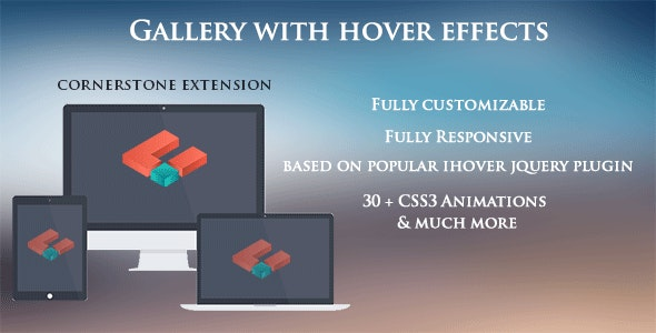 Gallery with hover effects - CodeCanyon Item for Sale