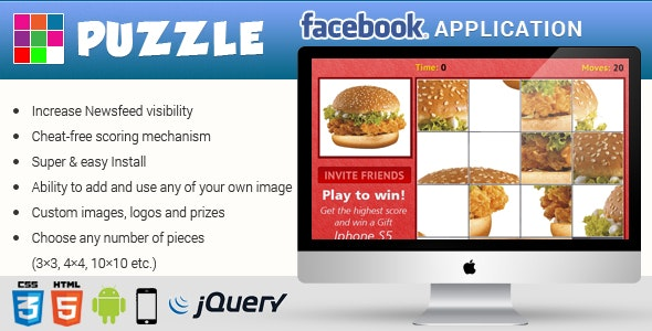 Facebook Puzzle Game Contest Application Latest FB API - CodeCanyon Item for Sale