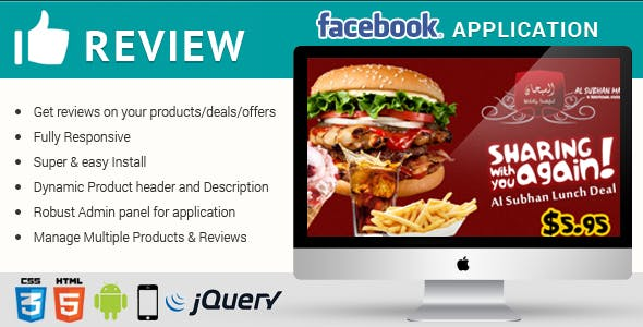 Facebook Reviews Responsive Application