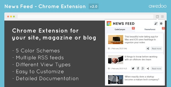 News Feed - Chrome Extension - CodeCanyon Item for Sale