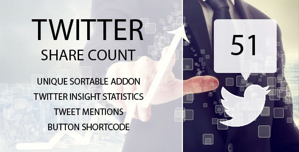 Twitter Share Count Sortable Addon