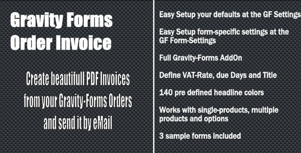 Gravity Forms - Order Invoice
