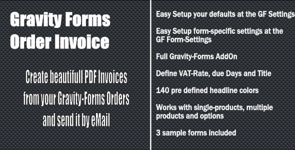 Gravity Forms - Order Invoice - CodeCanyon Item for Sale