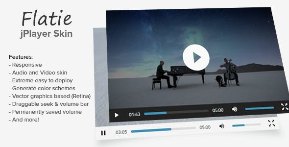 Flatie jPlayer Audio and Video Skin