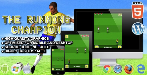 The Running Champion - HTML5 Game - CodeCanyon Item for Sale