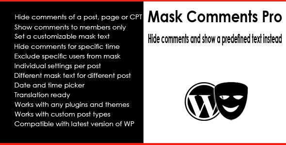 Mask Comments Pro - CodeCanyon Item for Sale