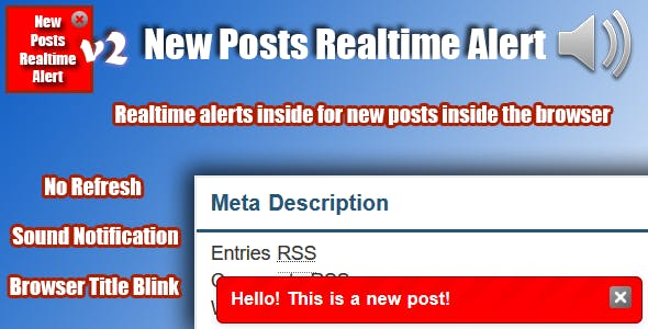 New Posts Realtime Alert Plugin