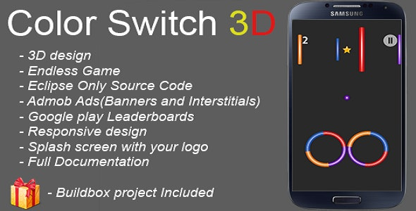 Color Switch 3D + Buildbox Project Included - CodeCanyon Item for Sale