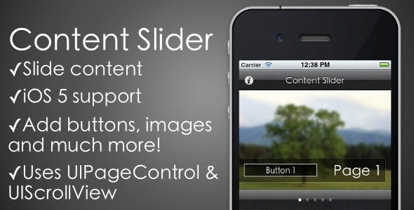 Content Slider - PageControl & ScrollView