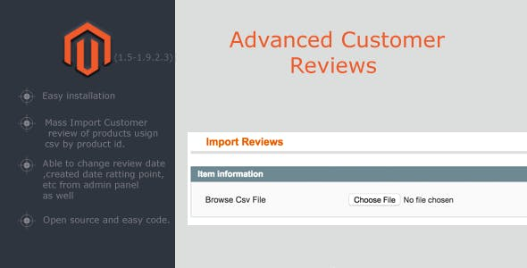 Advanced Customer Review/Import Product Review