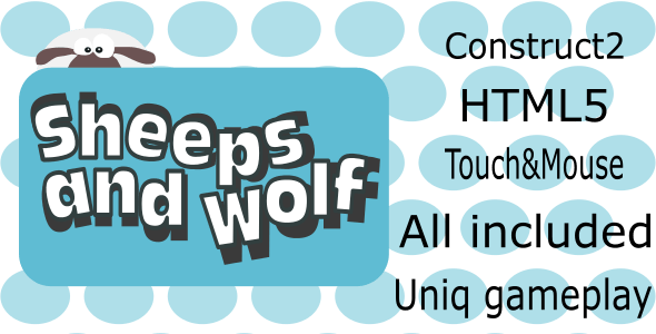 Sheep and Wolf - HTML5 game mobile