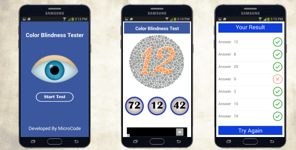 Color Blindness Tester - Android App - CodeCanyon Item for Sale