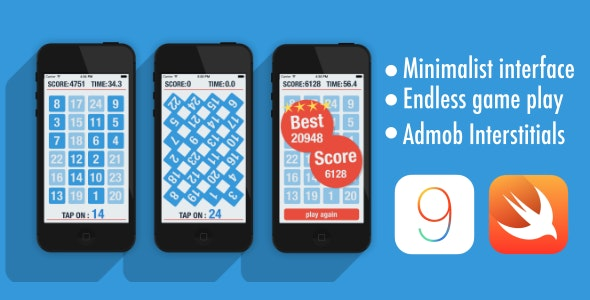 Tap The Number IOS Game - CodeCanyon Item for Sale