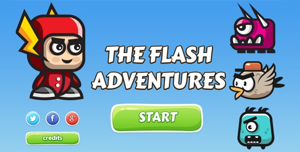 The Flash Adventures - HTML5 Game by dexterfly | CodeCanyon