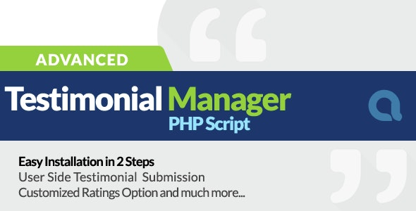 Advanced Testimonials Manager - CodeCanyon Item for Sale