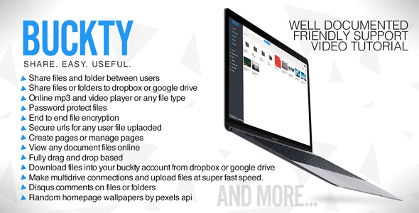 Buckty - File Hosting and Multi Cloud Service - CodeCanyon Item for Sale