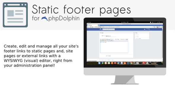 Static pages/footer links plugin for phpDolphin - CodeCanyon Item for Sale