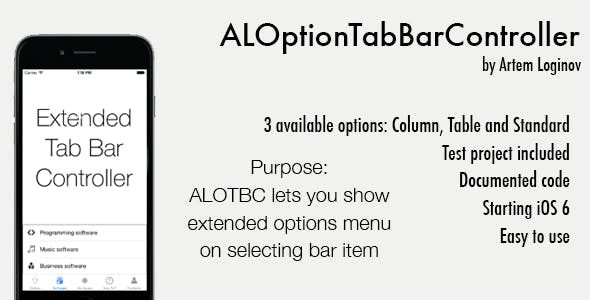 ALOptionTabBarController (Swift/Obj-C)