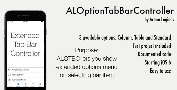 ALOptionTabBarController (Swift/Obj-C) - CodeCanyon Item for Sale