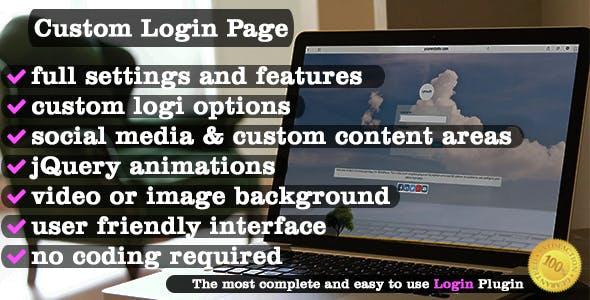 Custom Login Page for WordPress