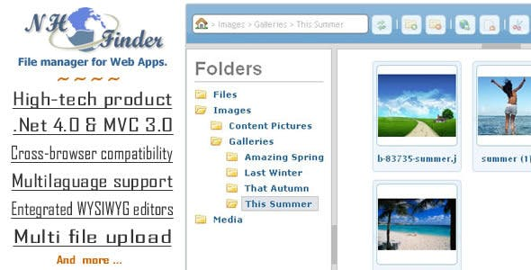 NH•Finder File Manager for Web Apps