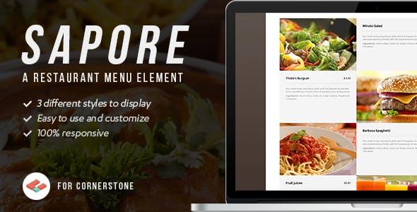 Sapore - Cornerstone Restaurant menu element