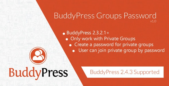 Buddypress Groups Password - CodeCanyon Item for Sale
