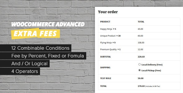 WooCommerce Checkout Fees - CodeCanyon Item for Sale